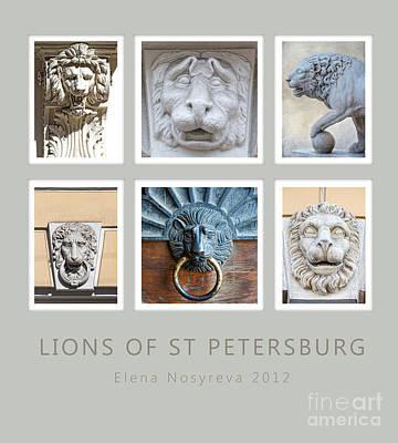 Lions Of St Petersburg Art Print by Elena Nosyreva