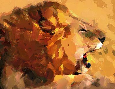 House Pet Digital Art - Lion's Voice by Yury Malkov