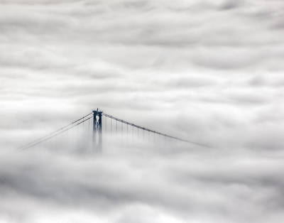 Photograph - Lionsgate In The Fog by R J Ruppenthal