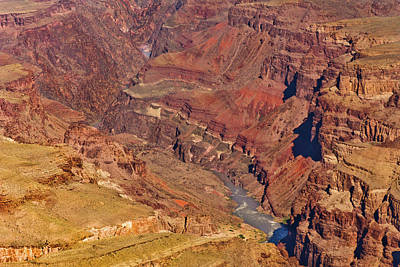 Photograph - Lipan Point  Colorado River  Grand Canyon by Bob and Nadine Johnston