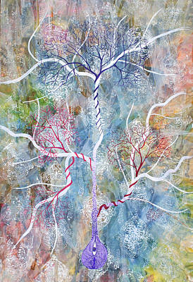 Tree Roots Painting - Lipid Branches by Sumit Mehndiratta