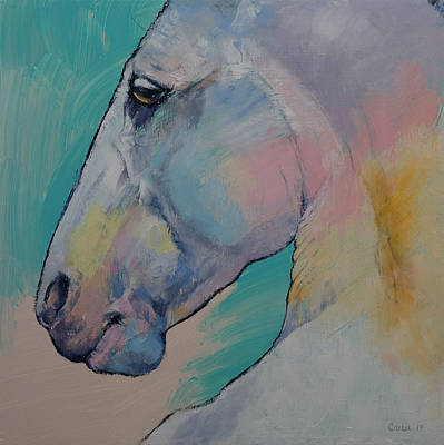 Lipizzan Stallion Art Print by Michael Creese