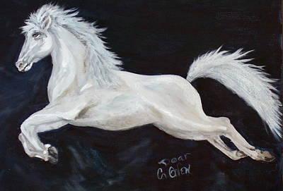 Painting - Lipizzaner Capriole by Caroline Owen-Doar