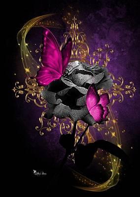 Digital Art - Lipstic Pink Butterflies by Ali Oppy
