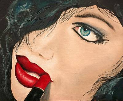 Painting - Lipstickgirl by S Robinson