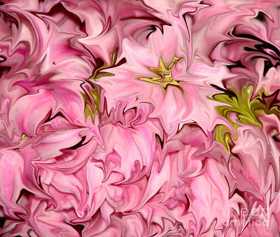 Photograph - Liquefied Pink Hyacinth Flowers Abstract by Rose Santuci-Sofranko