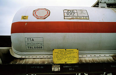 Tanker Wall Art - Photograph - Liquid Chlorine Transport by Robert Brook/science Photo Library