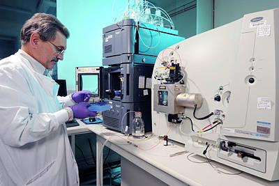 Spectrometer Photograph - Liquid Chromatography Mass Spectrometer by Public Health England