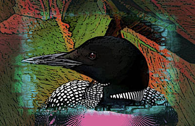 Liquid Color Loon Art Print by Debbi McDonough