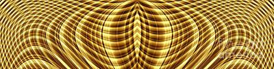 Digital Art - Liquid Gold 1 by Wendy Wilton