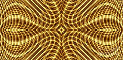 Digital Art - Liquid Gold 2 by Wendy Wilton