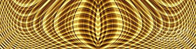 Digital Art - Liquid Gold 3 by Wendy Wilton