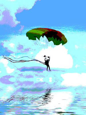 Liquid Landing Art Print by Sharon Lisa Clarke