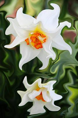 Liquid Narcissus Art Print by Mary Burr