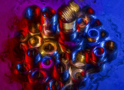 Liquid Nuts And Bolts Art Print