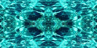 Liquify Aqua Art Print