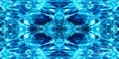 Photograph - Liquify Blue by Third Eye Perspectives Photographic Fine Art