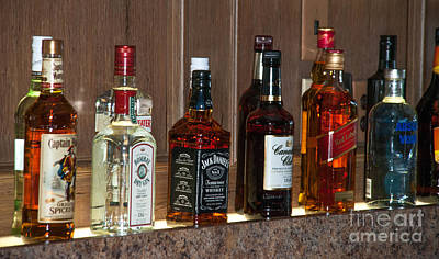 Drunk Driving Photograph - Liquor Bottles by Optical Playground By MP Ray