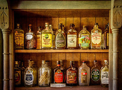 Log Cabins Photograph - Liquor Cabinet by Paul Freidlund