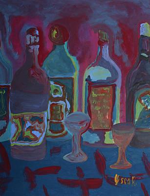 Painting - Liquor Corner  by Oscar Penalber
