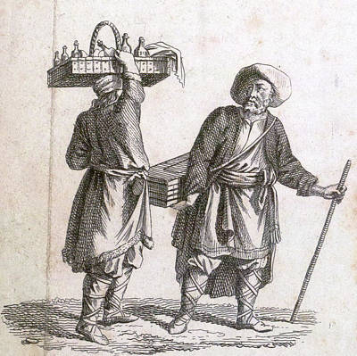 Archives Drawing - Liquor Seller, 18th Century, Liszt Gourmet Archive by Jamaican School