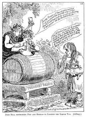 Painting - Liquor Tax Cartoon, 1796 by Granger