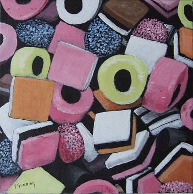 Allsorts Painting - Liquorice Allsorts by Tony Gunning