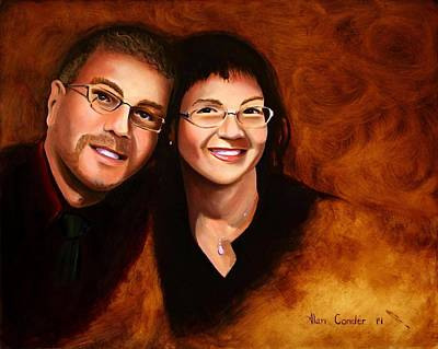 Painting - Lisa And Me by Alan Conder