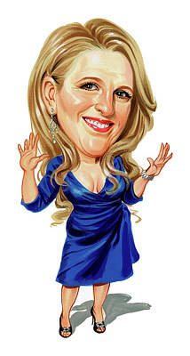 Comics Royalty-Free and Rights-Managed Images - Lisa Lampanelli by Art