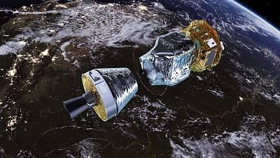 Lisa Pathfinder Space Probe Art Print by Esa/atg Medialab