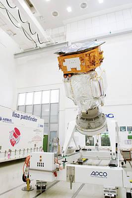 Lisa Pathfinder Space Probe Preparation Art Print by Esa-p. Sebirot, 2015