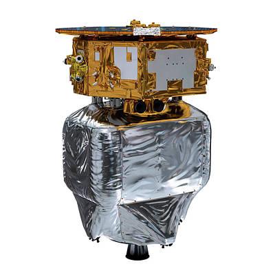 Lisa Pathfinder Space Probe Preparation Art Print by Esa/atg Medialab