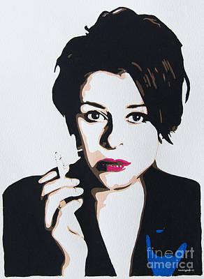 Painting - Lisa Stansfield by Nancy Mergybrower