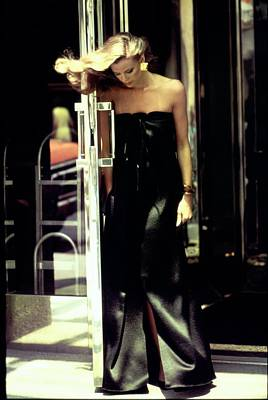 Photograph - Lisa Taylor Wearing A Black Gown by Arthur Elgort