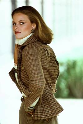 Photograph - Lisa Taylor Wearing A Tweed Blazer by Arthur Elgort