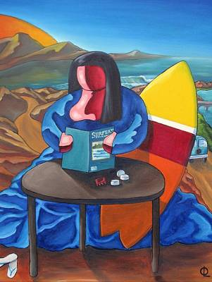 Painting - Lisa Was A Surfer by Olivier Longuet