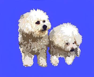 Pup Digital Art - Lisa's Pups by Cindy Edwards