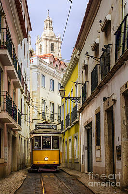 Trolley Photograph - Lisbon Tram by Carlos Caetano