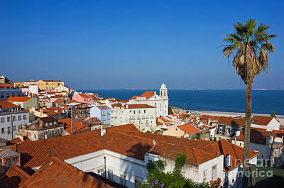 Lisbon Alfama Panoramic View Toward The River Art Print by Kiril Stanchev