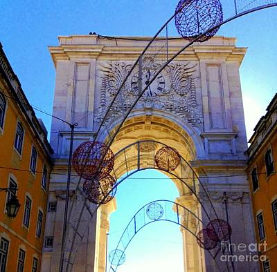 Most Sold Photograph - Lisbon Clock Gate by Noa Yerushalmi
