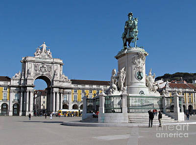 Lisbon Commerce Square Art Print