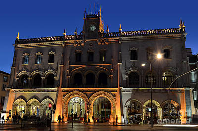 Photograph - Lisbon - Lisboa - Portugal - Central Train Station - Estacao Ros by Carlos Alkmin