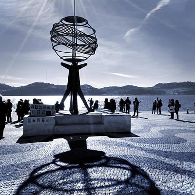 Photograph - Lisbon - Lisboa - Portugal - Monumento Esfera Armilar - Universo by Carlos Alkmin