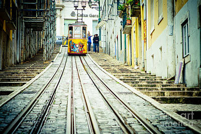 Fantasy Royalty-Free and Rights-Managed Images - Lisbon tram by Raimond Klavins