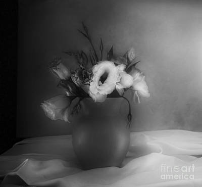 Gentian Photograph - Lisianthus Bouquet by Theresa Tahara