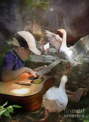 Digital Art - Listen To The Music by Adelita Rog