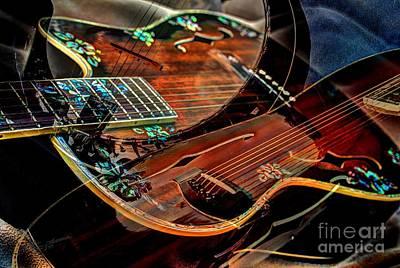 Listen To The Music Digital Guitar Art By Steven Langston Art Print by Steven Lebron Langston