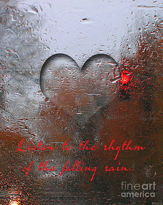 Digital Art - Listen To The Rhythm Of The Falling Rain by Lizi Beard-Ward