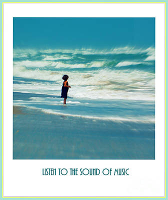 Splashing In The Tide Photograph - Listen To The Sound Of Music by Susanne Van Hulst