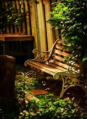 Photograph - Listening To The Silence - Secret Garden by Jordan Blackstone